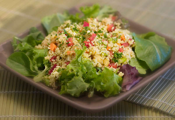 salade de couscous aux figues et persil pour l'été