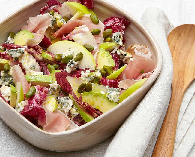 salade fruitée de roquefort