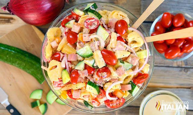 Salade Hawaienne avec du jambon