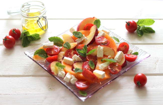 Recette de salade de melon, tomate et feta