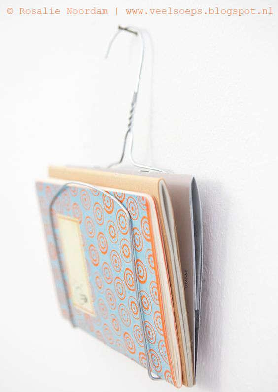support pour papier et magazine avec un cintre