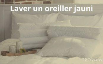 blanchir un oreiller jauni et bien nettoyer