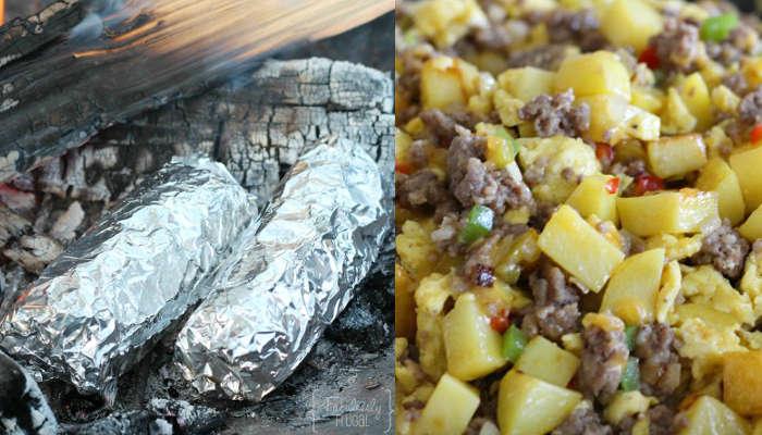 recette de burritos pour le déjeuner en camping