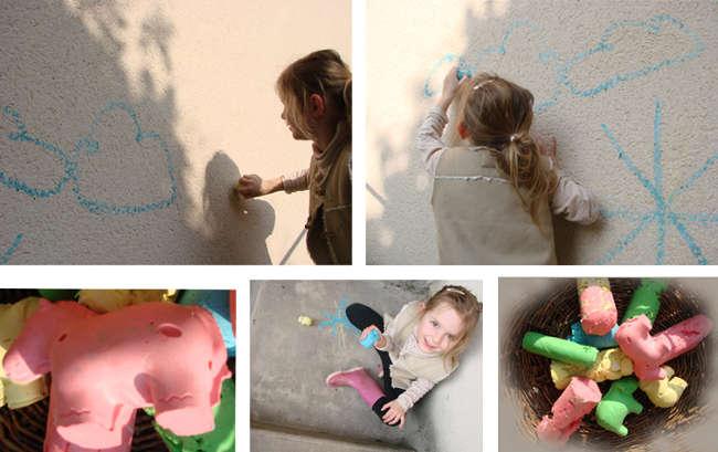 colorier avec des craies maison