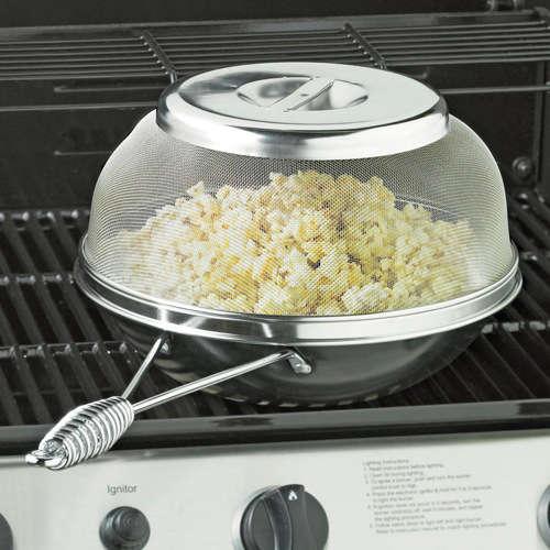 accessoire pour grill pour du pop corn au barbecue