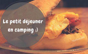 Idée de petits déjeuners pour le camping
