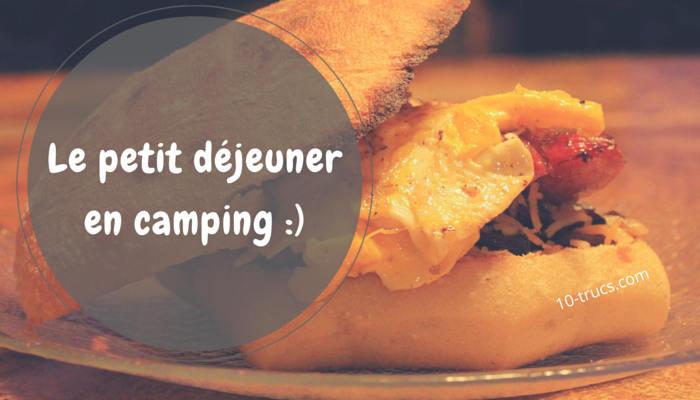 idée de petits déjeuner sur le feu en camping