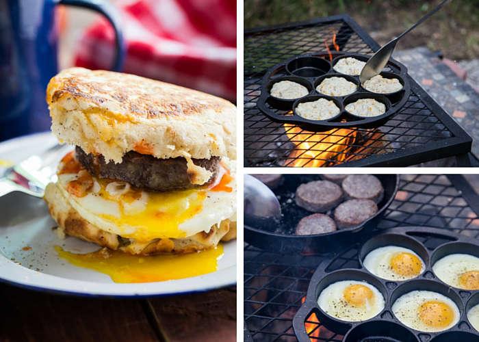 recette de burger déjeuner pour le camping