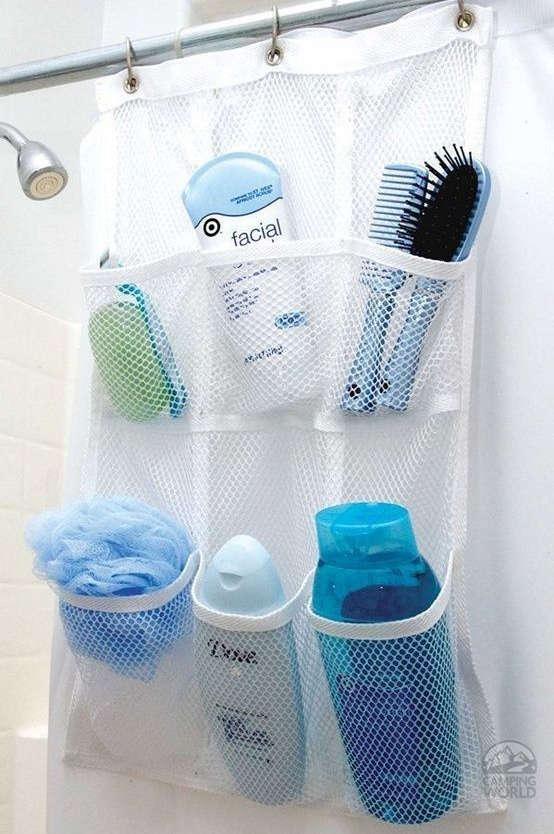 organisation des trucs sous la douche et le bain