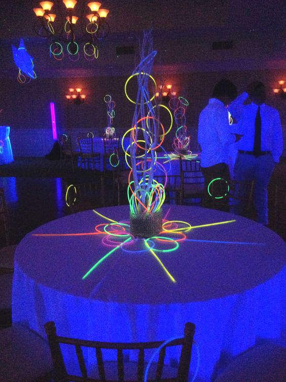 bâton glow stick pour décorer une fête