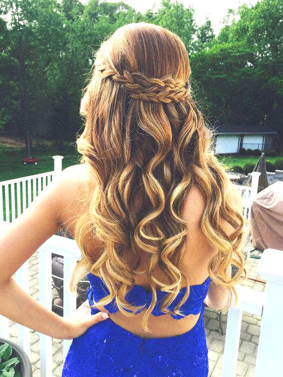 Coiffure facile pour fille cheveux mi long