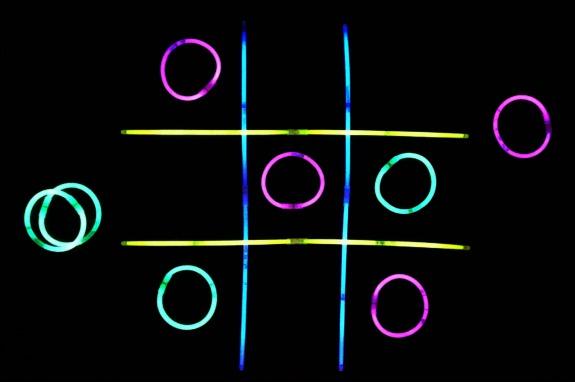 glow stick tic tac toe