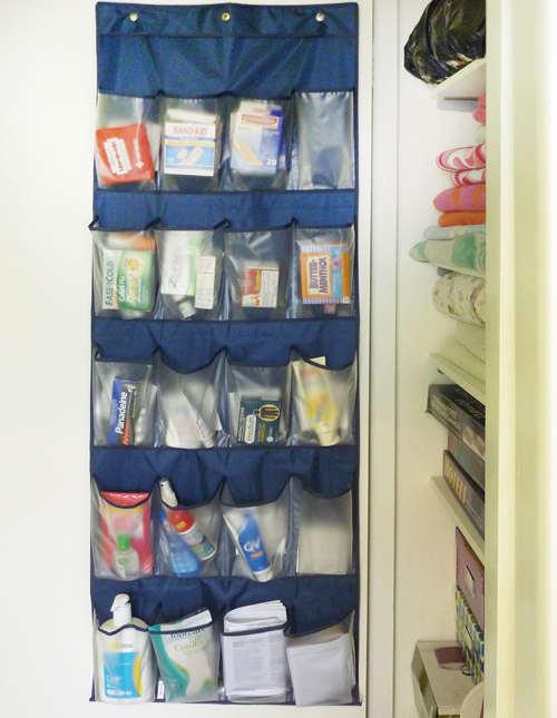 rangement de la pharmacie et premier soin à la maison