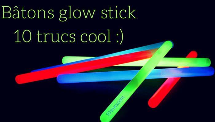 Idée avec des bâtons glow stick