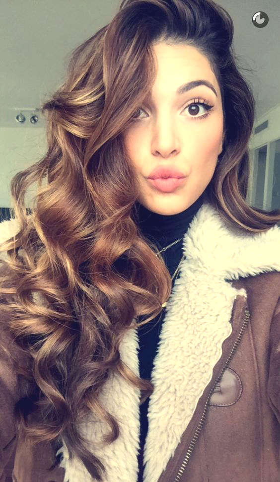 Long hair curly brown idea