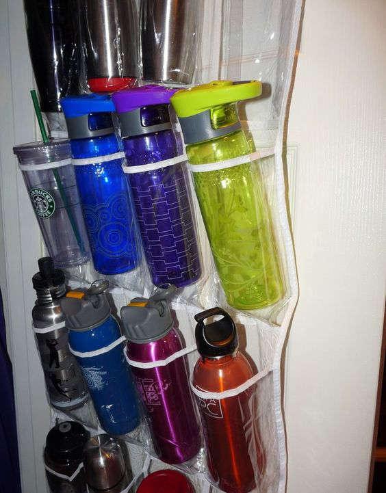 rangement pour bouteille d'eau