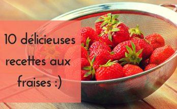 idée de recettes avec des fraises