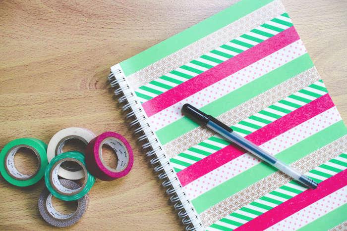 relooking cahier de note pour l'école