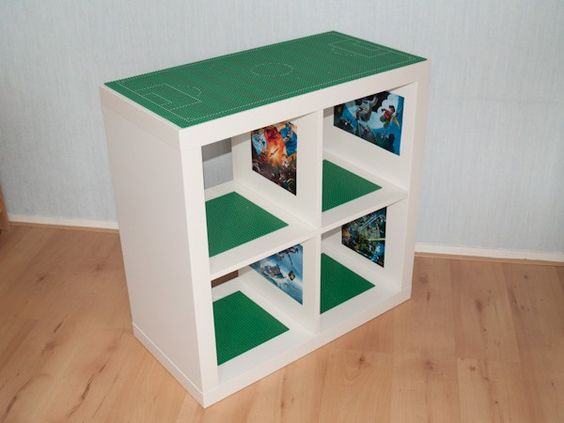 transformer un meuble en table et rangement de lego