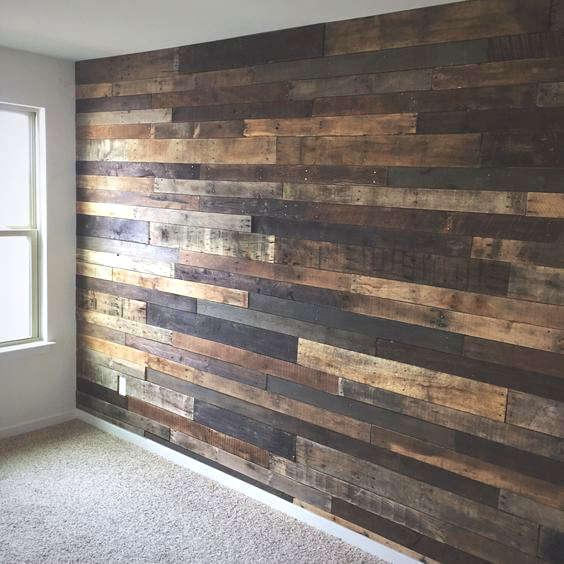 faire un mur en bois de palette