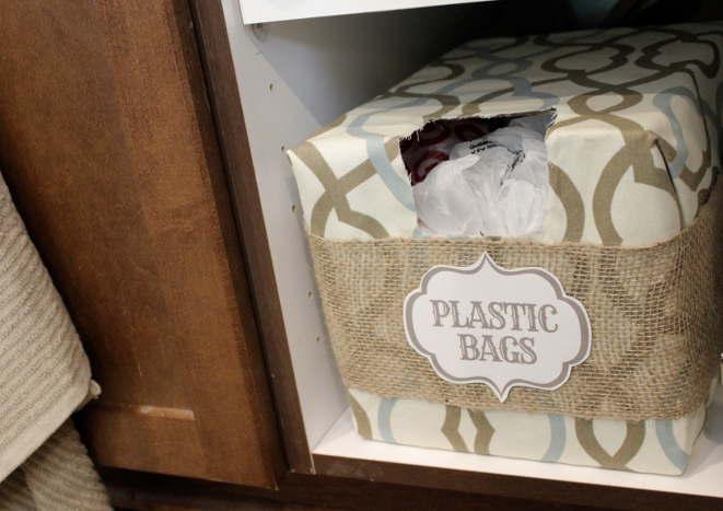 diy plastic bag storage pour ranger les sacs de plastiques