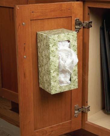 boite de mouchoir pour ranger les sacs en plastiques