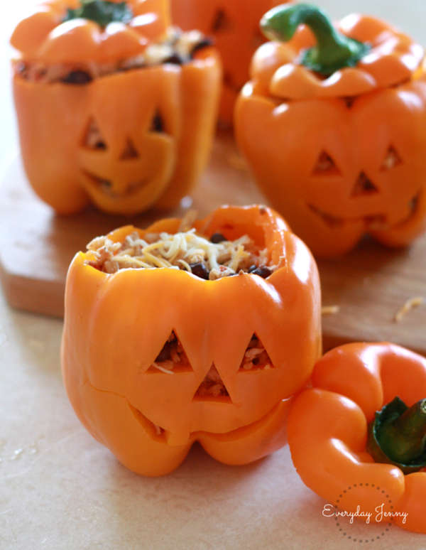 Recette spéciale de piment fourrée pour l'Halloween