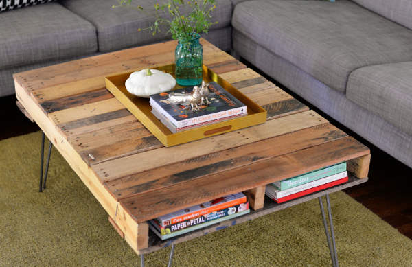 fabriquer une table en palette de bois