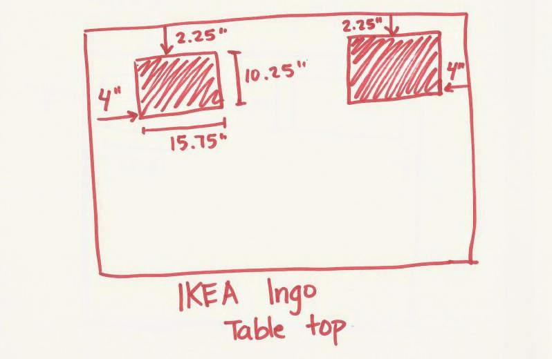 plan pour fabriquer une table à LEGO
