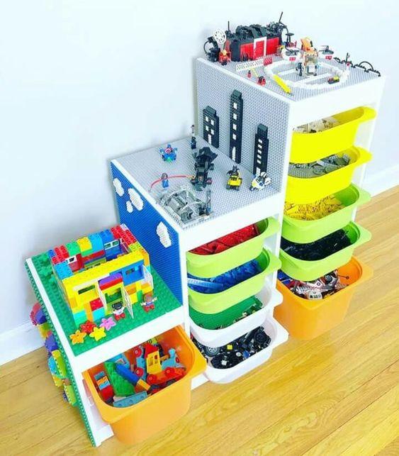 Idée rangement et table pour bloc lego