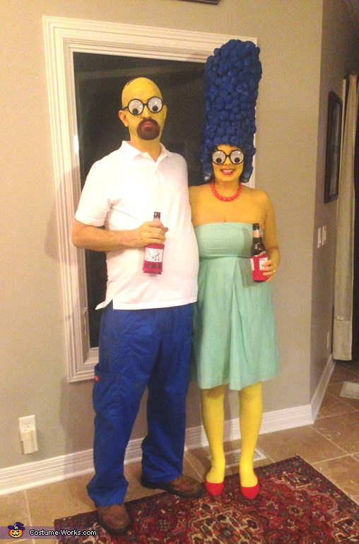 se déguiser en Marge et Homer pour l'Halloween