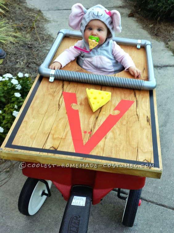déguisement de souris et trappe à souris pour bébé