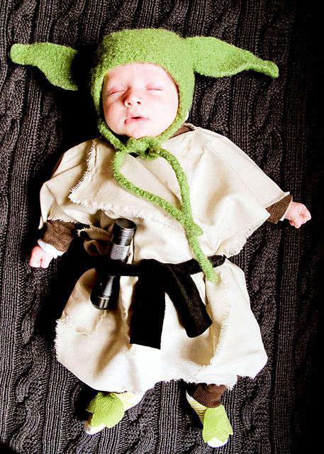 déguisement de Yoda pour bébé à fabriquer soi-même