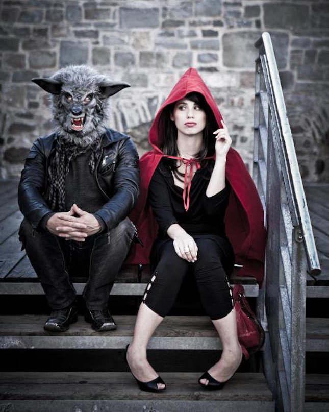 le petit chaperon rouge et le grand méchant loup, déguisement pour couple