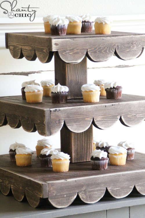présentoir à cupcake de Shanty 2 Chic