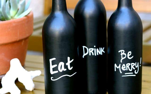 Bricolage bouteille de vin