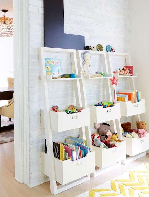 étagère pour ranger les jeux et les jouets