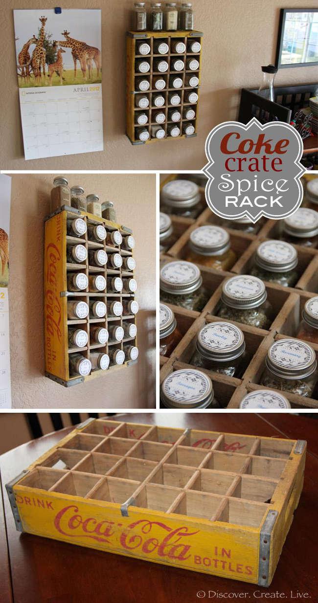 rack à épice vintage à fabriquer
