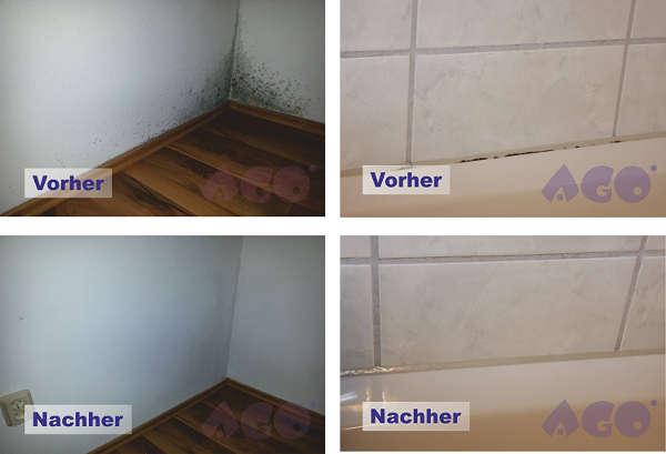 Produit AGO pour nettoyer la moisissure sur murs et plafonds