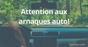 arnaques auto, comment éviter les arnaques lors de l'achat d'une voiture