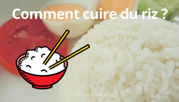 faire cuire du riz