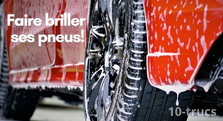 Comment faire briller des pneus de voiture?