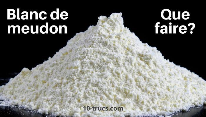 Que faire avec du blanc de meudon?