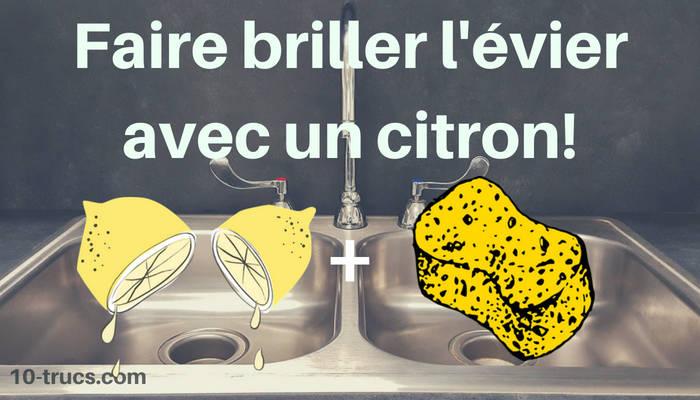 remède pour faire briller un évier avec du jus citron