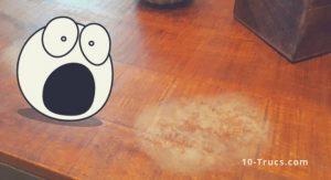 Comment enlever une tache blanche sur un meuble en bois