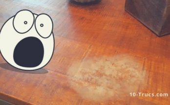 enlever une tache blanche sur un meuble en bois