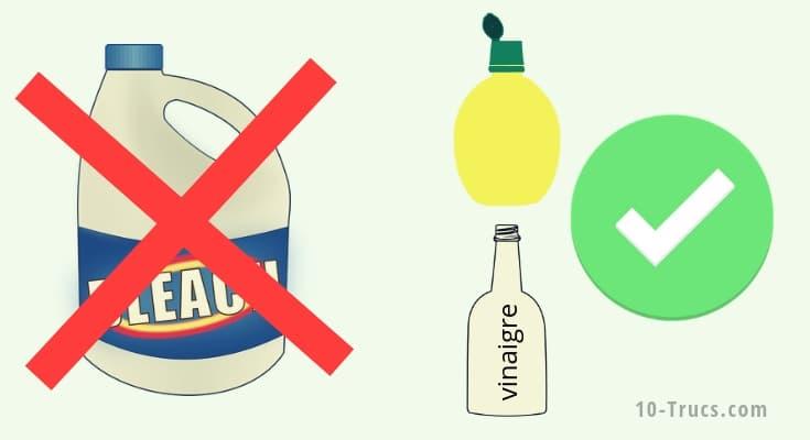 Par quoi remplacer l'eau de javel à la maison