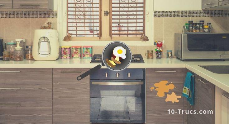 Comment enlever les taches de graisses dans une cuisine