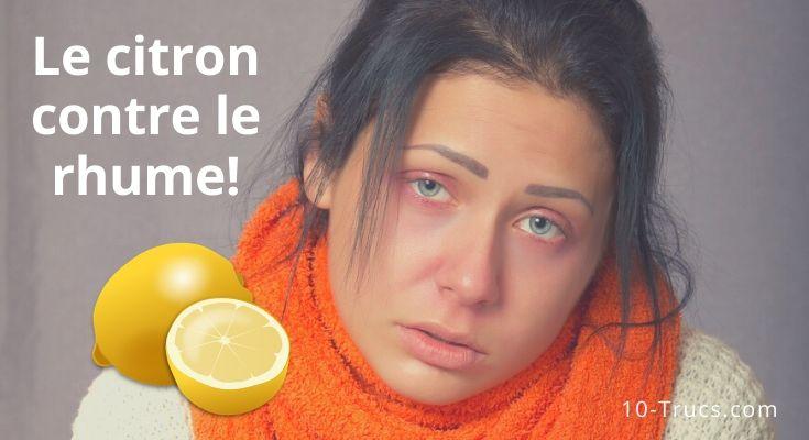 Le citron contre le rhume