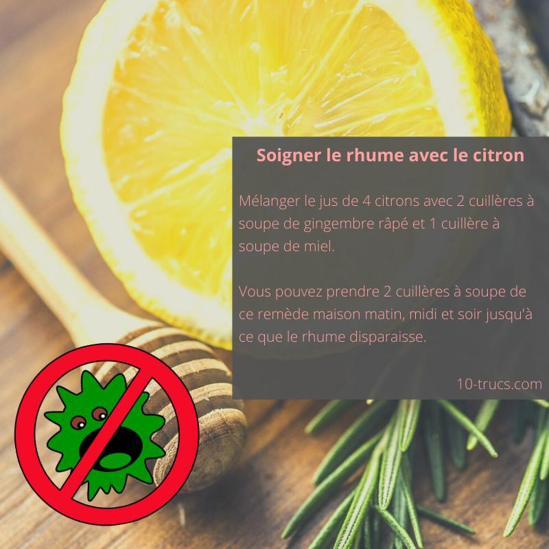 Le jus de citron et miel contre le rhume